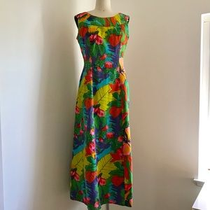 Vintage 60s Liberty House Floral Hawaiian Dress
